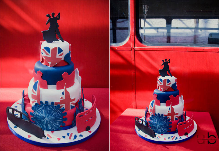 london-wedding-photographer-bus-union-jack-dress On the Buses//Best of British//Big Red Wedding Photography Shoot Deptford